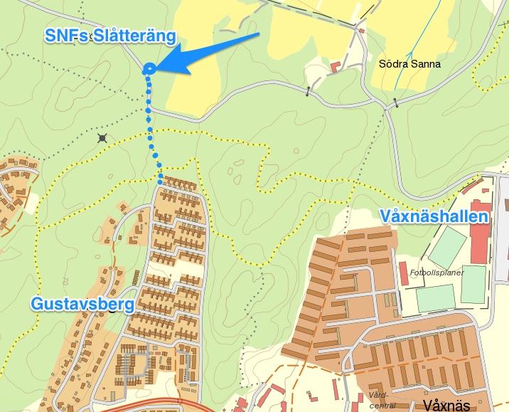 Slåtterängen karta