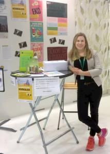 Erika Göransson är ansvarig för Kemikaliegruppen. Helgens Barnmässa visar att det finns ett stort behov av att sprida information för en giftfri vardag.